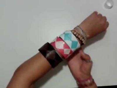 Origami - Papiroflexia. Pulsera de papel fácil
