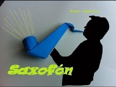 Origami - Papiroflexia. Saxofón