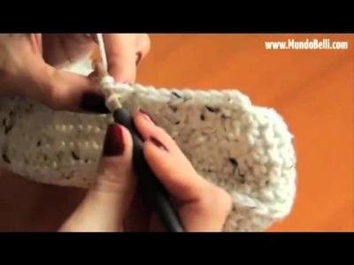 Pantufla Bota Crochet 7 de 8