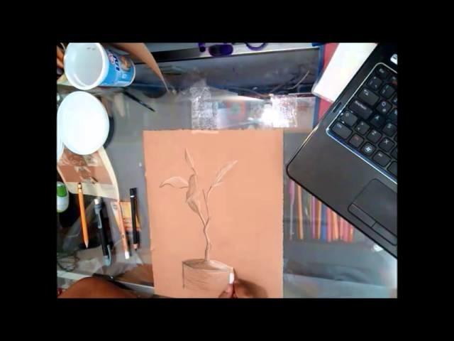 Papel Craft como soporte de dibujo [Medio tono]