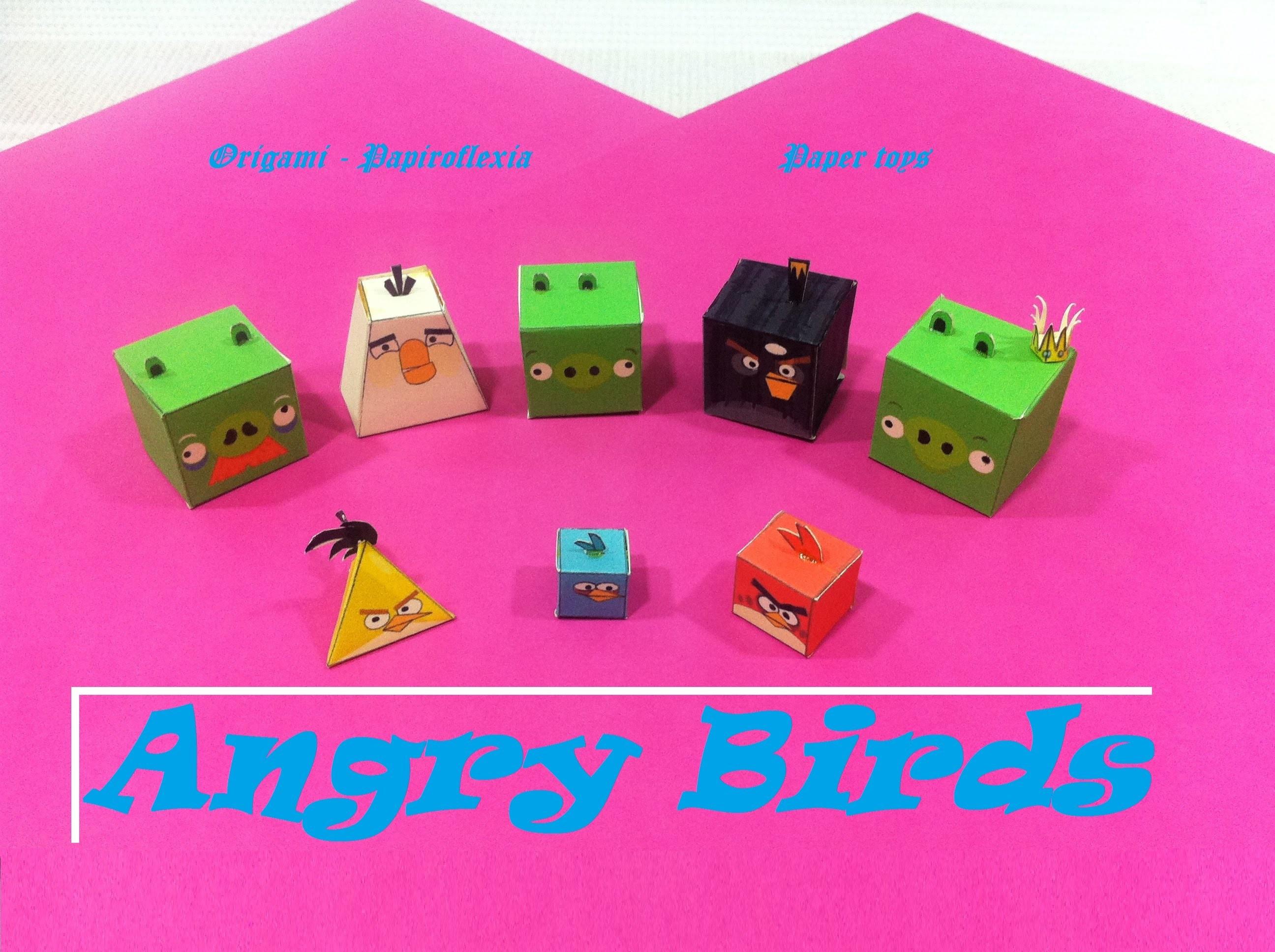 Paper Toys. Origami - Papiroflexia. Angry Birds, La colección.