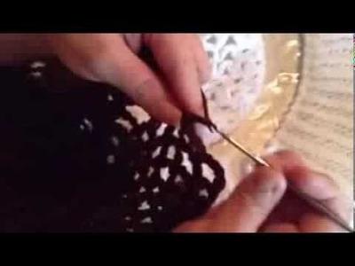 Paso a paso de bolero en crochet y 2 dos Agujas parte 4
