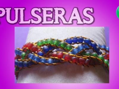 Pulsera trenza de 4 hilos | Tutorial | DIY