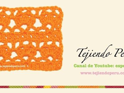 Puntada fantasía #49 tejida a crochet: flores de piñas