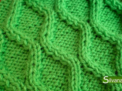 Punto ROMBOS sin CRUZAR. Tejido con dos agujas # 93 Patterns knitting