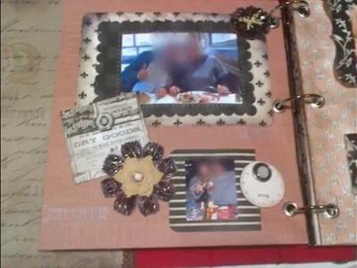 Scrapbook love album .Colección vintage de Teresa Collins.