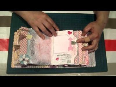 Scrapbooking ideas: Minialbum Shabby Chic, original y fácil.