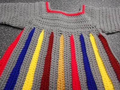 Sweter para niña Crochet parte 1 de 4