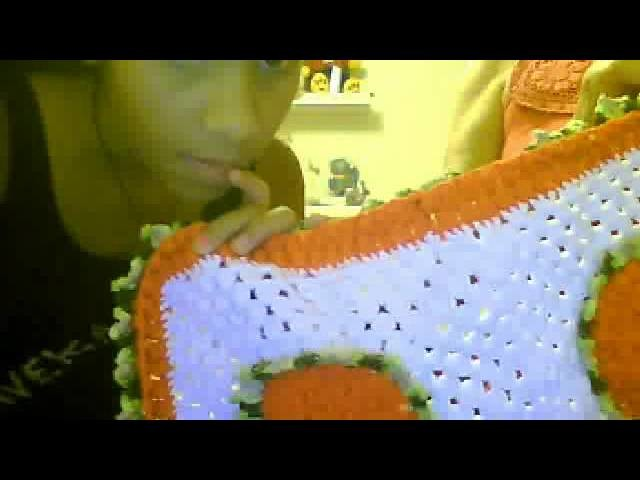 Tapete  echo a crochet muy hermoso,