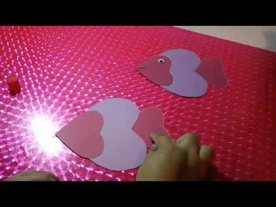 Tarjeta pescadito Scrapbook original | Como hacer tarjetas de amor creativas