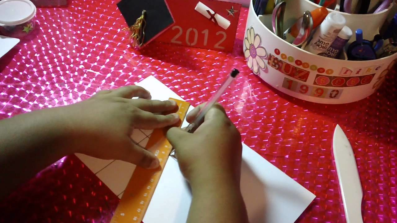 TARJETA POP UP PARA GRADUACION SCRAPBOOK ORIGINAL