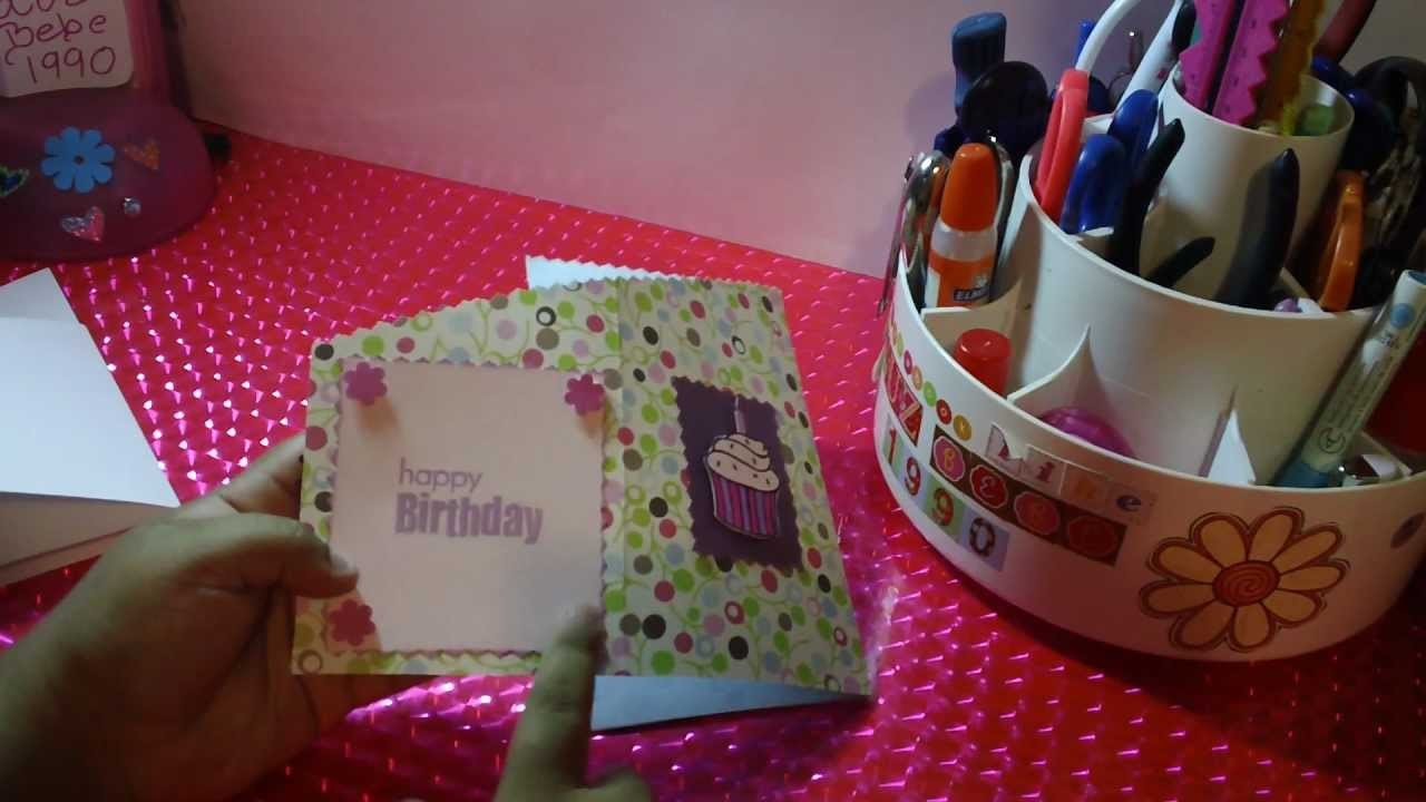 TARJETA ZIG ZAG SCRAPBOOK para cumpleaños o para otra ocasion