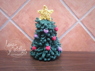 Tutorial Arbol Navidad a Crochet o Ganchillo Paso a Paso en Español