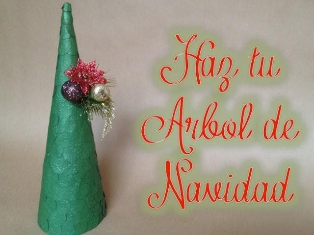 TUTORIAL Cómo hacer tu árbol de navidad.Christmas Tree Scrapbooking Fácil
