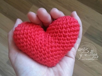 Tutorial Corazón Amigurumi Heart (English subtiltes)