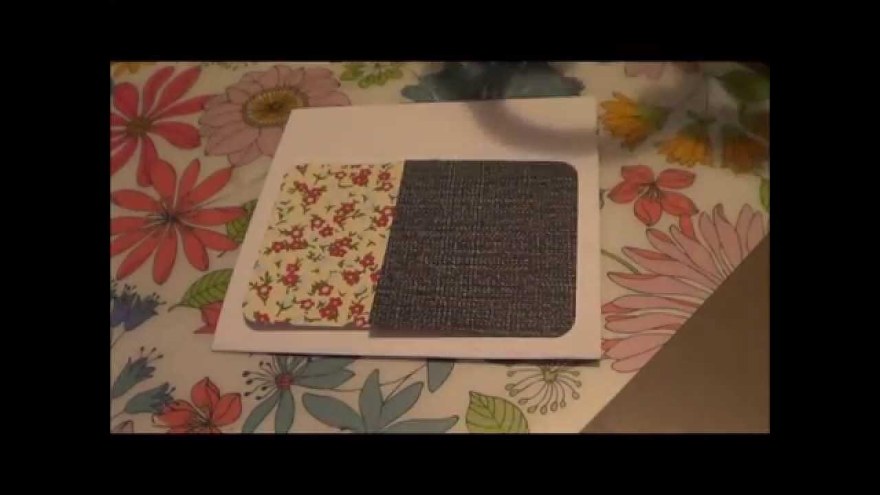 Tutorial scrapbooking; tarjetas fáciles