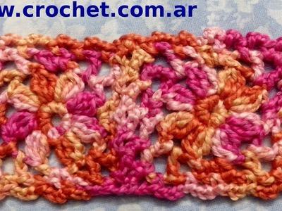 Unión Motivo N° 2 granny square en tejido crochet tutorial paso a paso.