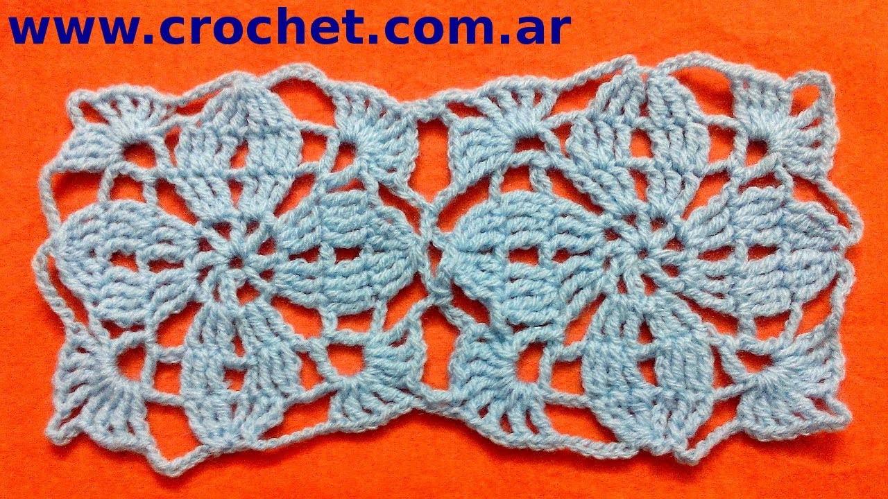 Unión Motivo N° 3 granny square en tejido crochet tutorial paso a paso.