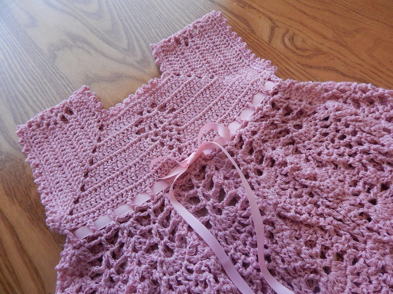 Vestido de Piñas Crochet parte 2 de 3