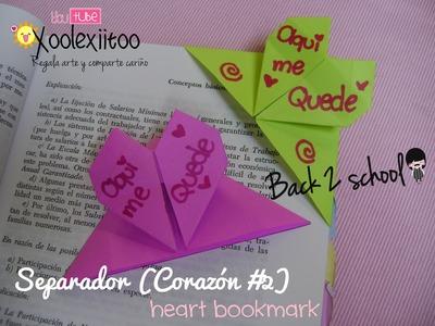 @xoOlexiitOo.  ❥B2S: Separador de Corazón (Origami). Heart Bookmarks (Regreso A Clases)