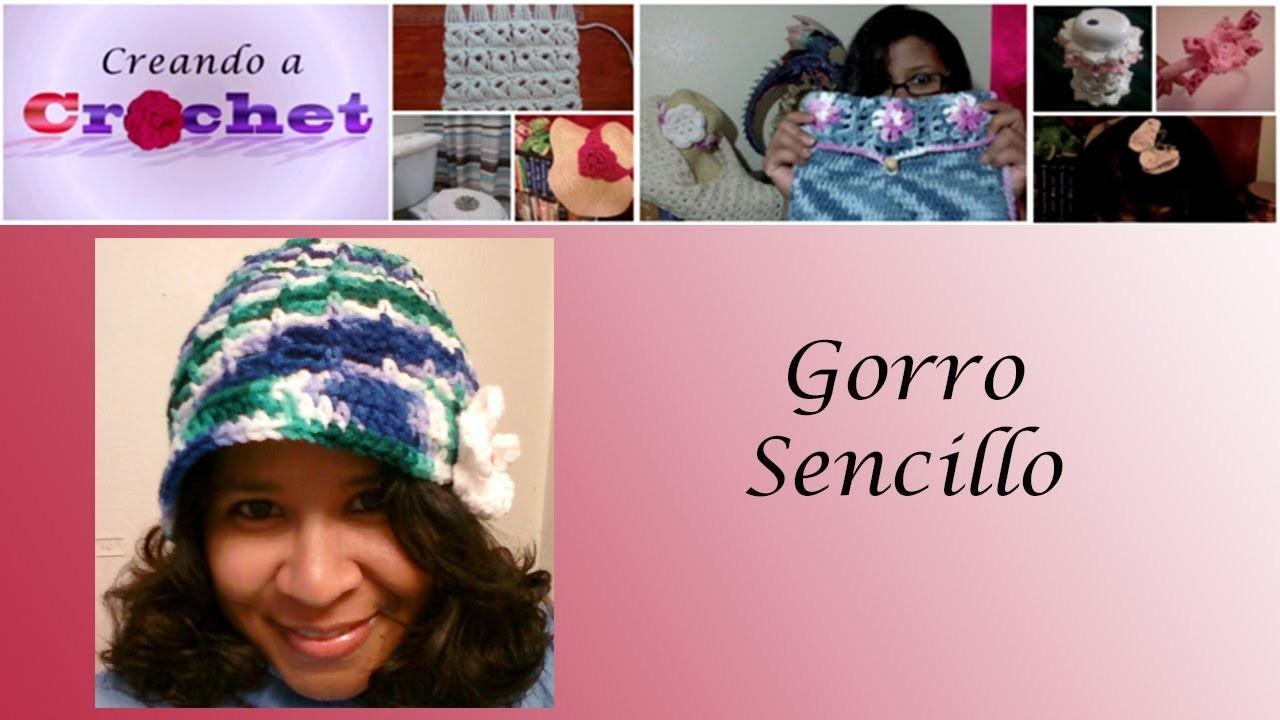 Gorro sencillo -Tutorial de tejido crochet