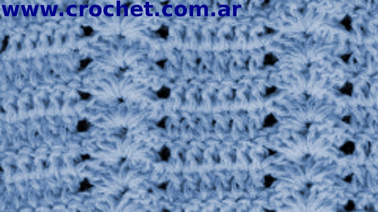 Punto Fantasía Nº 46 en tejido crochet tutorial paso a paso.