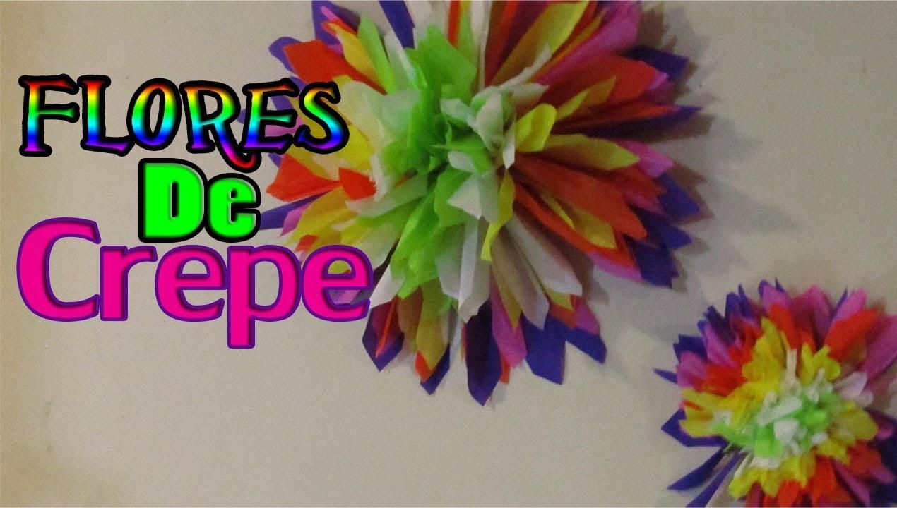 Como hacer FLORES DE CREPE!. DIY Crepe paper flowers