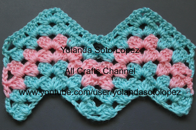 Patron de #crochet - Granny Ripple