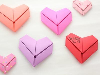 Como doblar tus cartas en forma de corazón