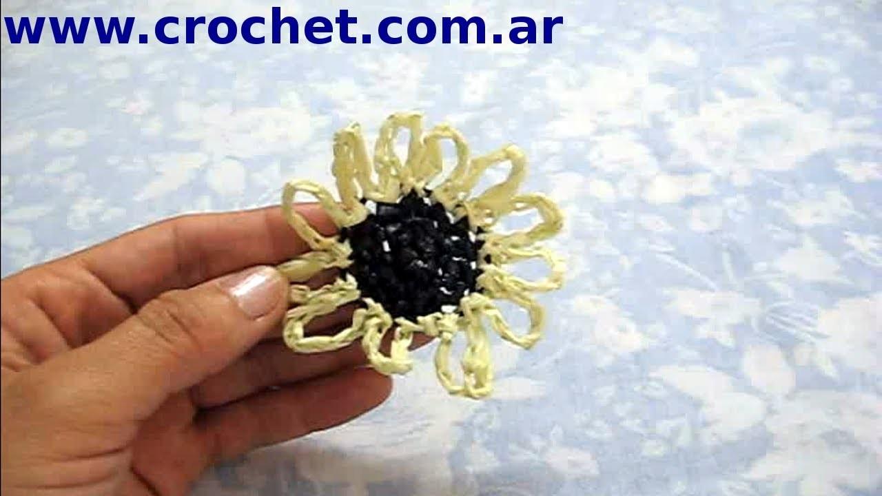 Flor N° 20 en tejido crochet tutorial paso a paso.
