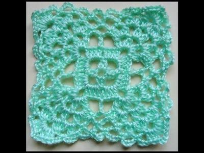 Crochet : Cuadrado # 5.  Parte 2 de 2