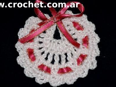 Souvenirs Modelo Babero en tejido crochet tutorial paso a paso.
