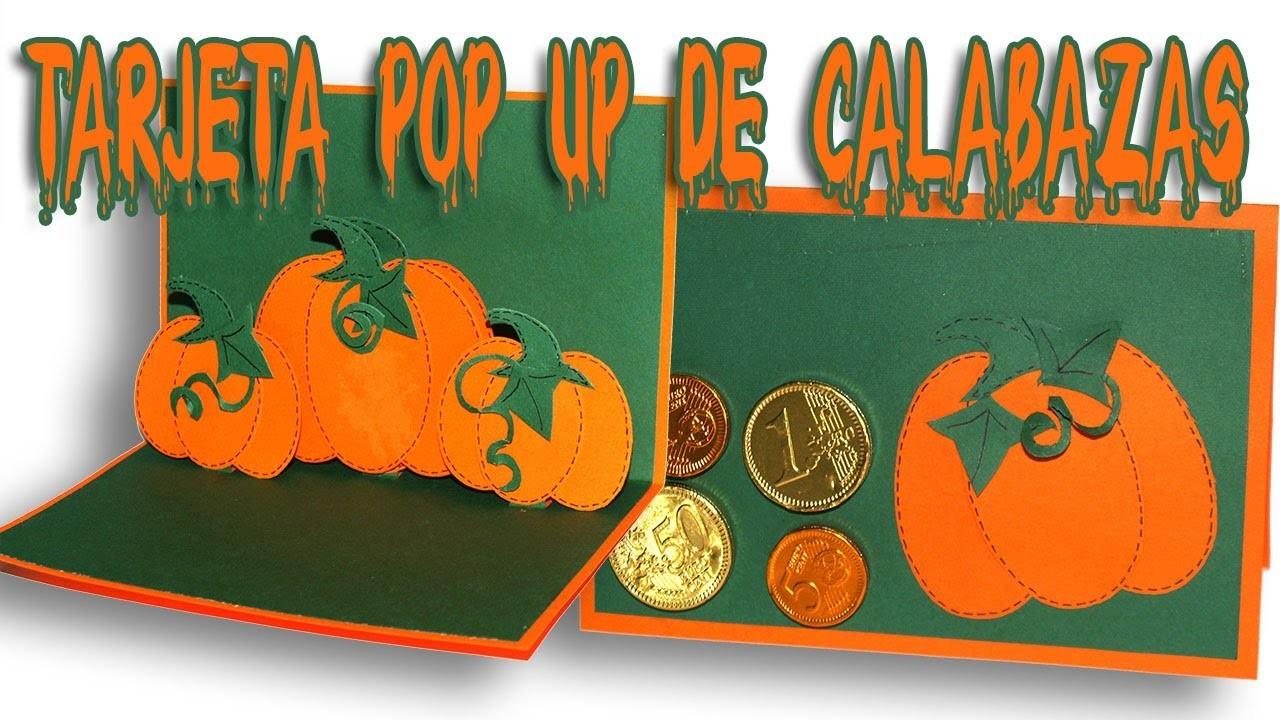 DIY - Halloween - Tarjeta popup de calabaza - Pumpkins pop up card