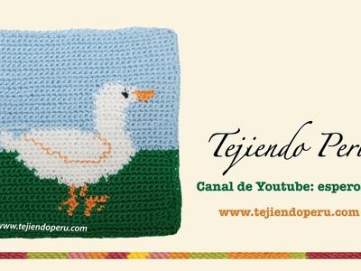 Agarrador de olla con diseño de patito tejido a crochet