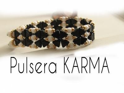Abalorios - Hacer Pulsera Karma con cuentas Kheops