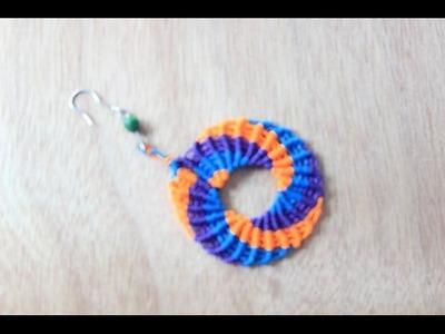 Como hacer aros en macrame circulares Es.PandaHall.com