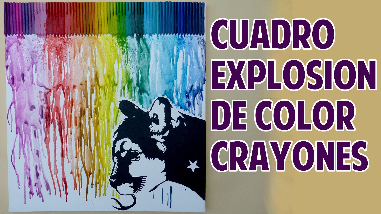 Cuadro Explosión de Color crayones