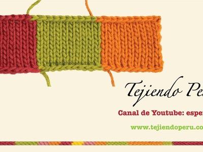 Dos agujas: tejiendo con varios colores de lana a la vez