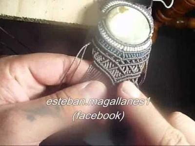 Macrame, como hacer una pulsera con una piedra (part 2)