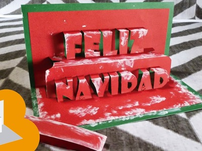 "Tarjeta Pop Up ""Feliz navidad"""