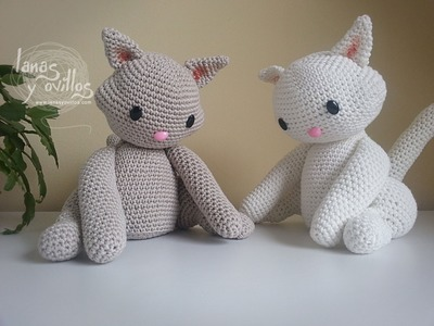 Tutorial Gato Amigurumi Cat (1-2) (English subtitles)
