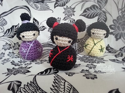 Tutorial Kokeshi Amigurumi (English subtitles)