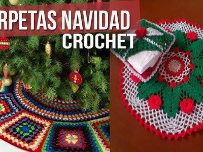 Carpetas de Navidad para mesa - Tejidas a Crochet ( diseños e ideas )