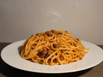 Cómo hacer espaguetis con carne picada