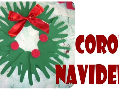 Corona navideña de manos (Navidad)