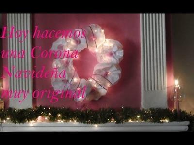 CORONA NAVIDEÑA SUPER FACIL Y ORIGINAL