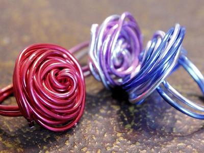 DIY: Anillos de alambre por 20 céntimos. Wire rings