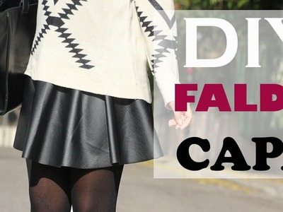 DIY Costura: Como hacer falda de capa (patrón gratis)