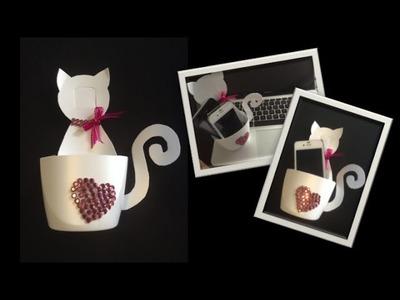 (DIY) Portacelular con forma de gato