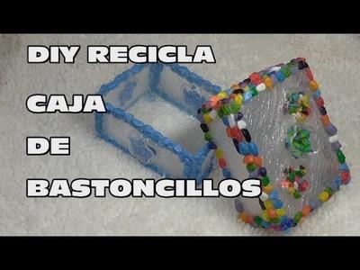 DIY. RECICLA CAJA DE BASTONCILLOS